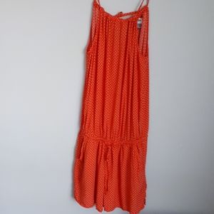 Old navy orange Romper tie top